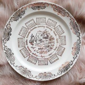 VTG 1956 Taylor-Smith-Taylor Calender Decor Plate